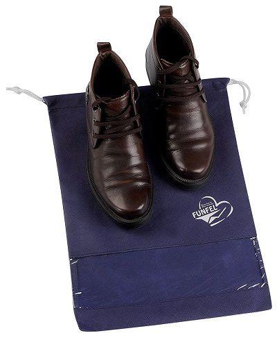 Saquinho de tnt para sapato 30x40 - com visor plastico personalizado - Linha Classic  1432  - Litex Embalagens
