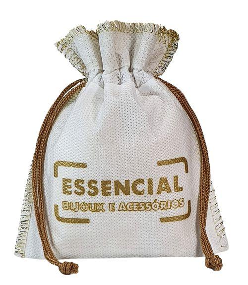 Saquinho de tnt Personalizado  - Tamanho  08x12 - Costura em Lurex metal - Linha classic 6300  - Litex Embalagens