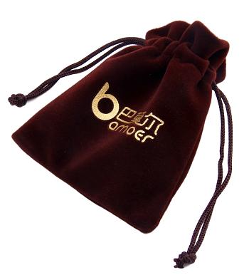 Saquinho de veludo personalizado para perfume - 15 x 20 - Impressão Hot-Stamping Italiano -  Linha Luxo 1110  - Litex Embalagens