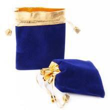 Saquinho de veludo - borda dupla lamê e ponteira de metal - sem impressão 10x15  -  Linha Luxo 2096  - Litex Embalagens