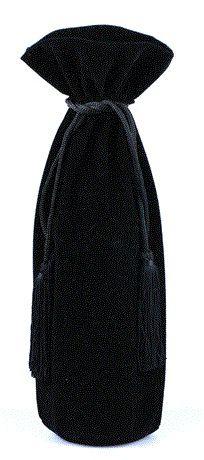 Saquinho de veludo para garrafa - fechamento com pingente de seda 18x40 - Linha Classic 1814  - Litex Embalagens