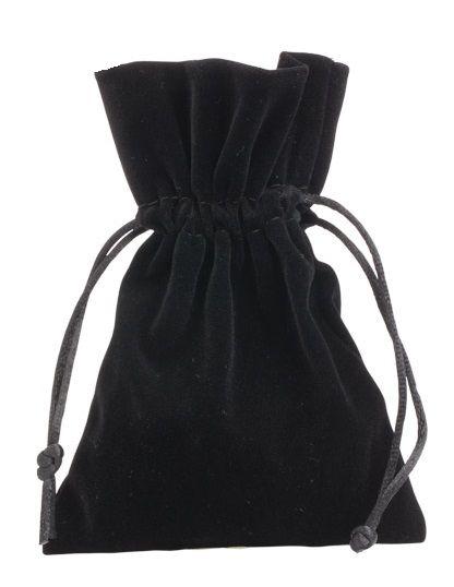 Saquinho de veludo para joias  06x08 - Sem impressão - Linha Classic 4174  - Litex Embalagens