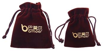 Saquinho de veludo para joias 08 x 12 - Impressão Hot-Stamping Italiano - Para outros tamanhos consulte - Linha Classic 7125  - Litex Embalagens