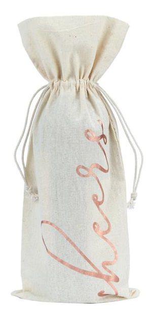 Saquinho para garrafa de algodão 18x40 - impressão em hotstamping - Linha Classic 706  - Litex Embalagens