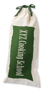 Saquinho para garrafa de algodão 18x40 - personalização em serigrafia - Linha Classic 1809  - Litex Embalagens