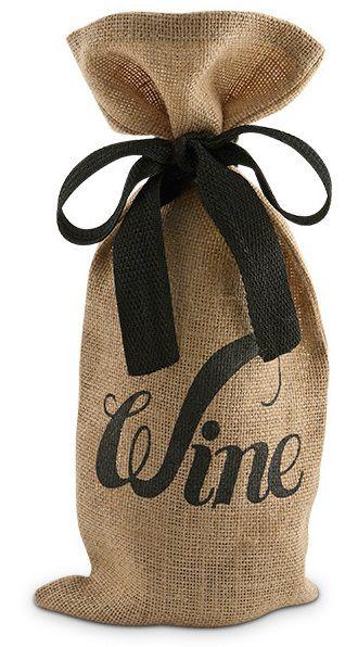 Saquinho para garrafa de juta 18x40 - personalização em serigrafia - fechamento com fita de gorgurão - Linha Orgânica  1808  - Litex Embalagens