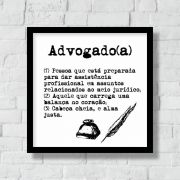Quadro Decorativo | Arte Profissão Advogado (a)