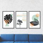 Composição Decorativa | Composição Seja Bem Vindo - 03 Quadros