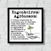 Quadro Decorativo | Arte Profissão Engenheiro(a) Agrônomo(a)