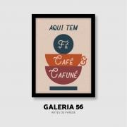 Quadro Decorativo | Arte Fé café cafuné