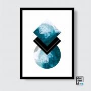 Quadro Decorativo | Arte Geométrico Trio Mar