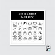 Quadro Decorativo | Arte Lavanderia etiqueta