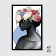 Quadro Decorativo | Arte Mulher e flores