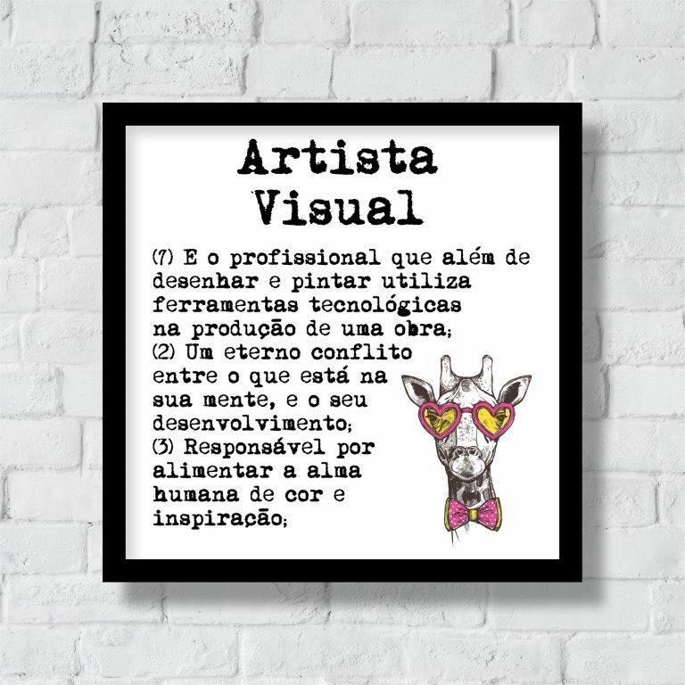 Quadro Decorativo | Arte Profissão Artista Visual