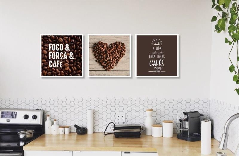 Composição Decorativa   Composição Cozinha Café - 03 Quadros