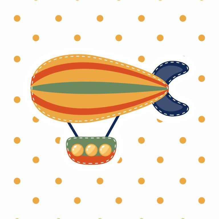 Composição Decorativa| Composição infantil Voar - 04 Quadros