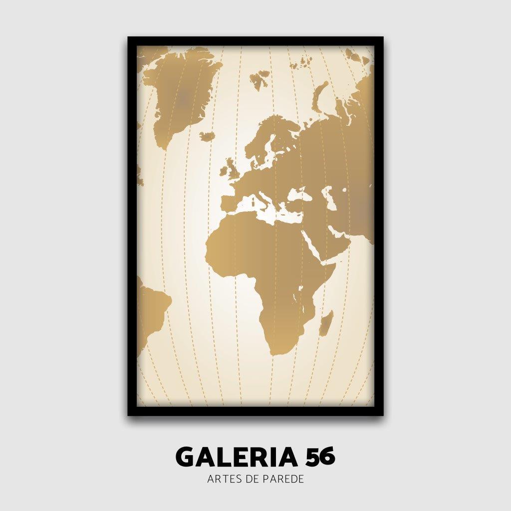 Composição Decorativa | Composição Mapa mundi