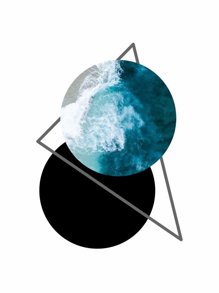 Composição Decorativa | Composição Mar geométrico