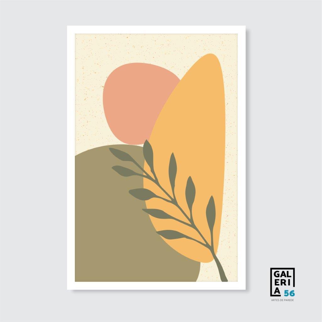 Composição Decorativa | Composição planta e rosto abstrato