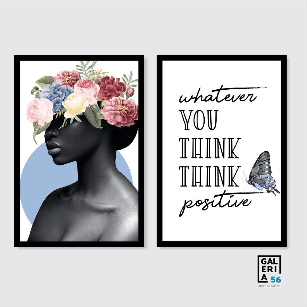 Composição Decorativa | Composição Think Positive