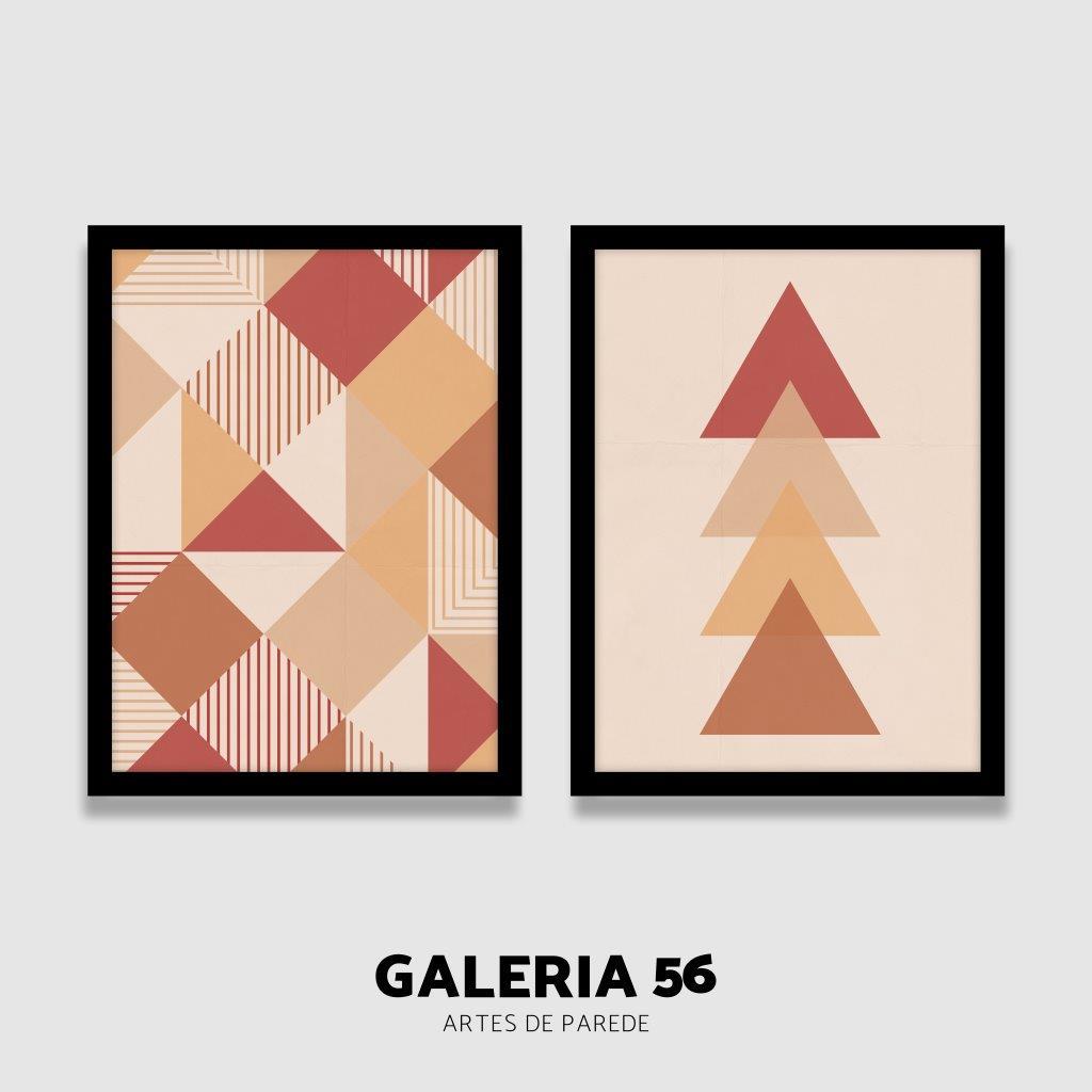 Composição Decorativa | Composição triangulos cores