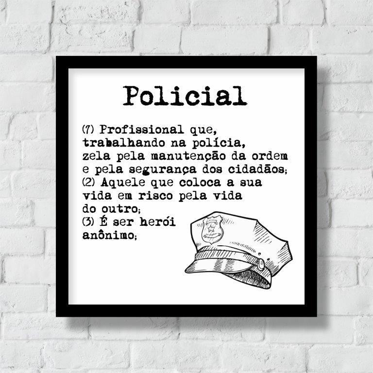 Quadro Decorativo | Arte Profissão Policial