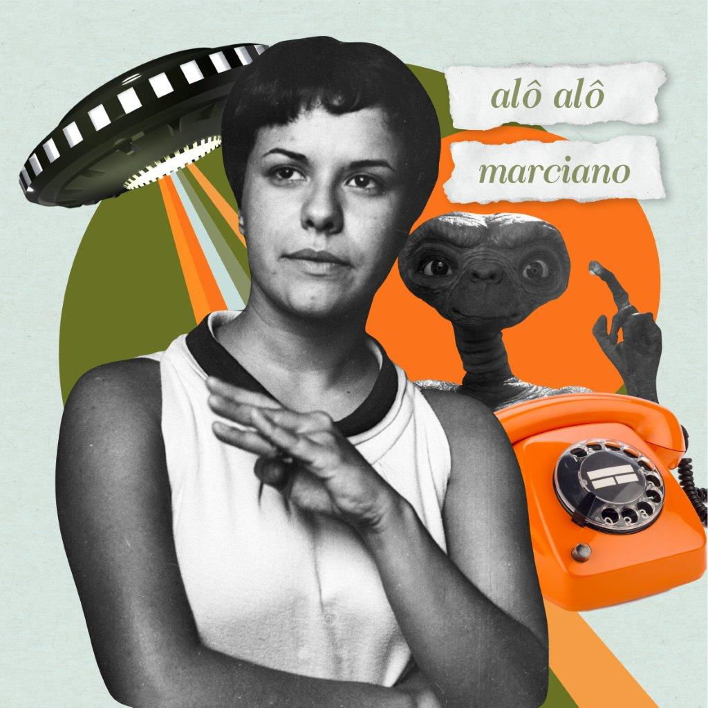 Quadro Decorativo   Colagem Elis Regina - Alô Alô Marciano