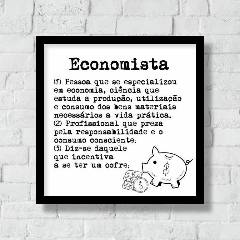 Quadro Decorativo   Arte Profissão Economista
