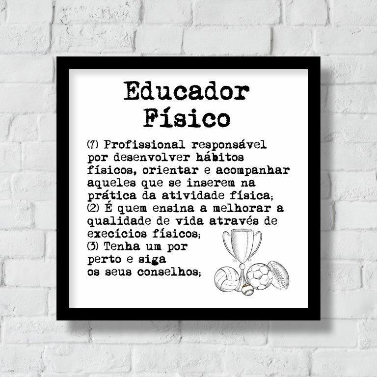 Quadro Decorativo | Arte Profissão Educador (a) Físico