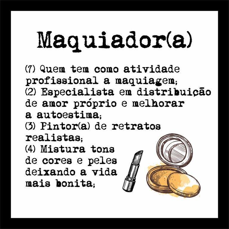 Quadro Decorativo | Arte Profissão Maquiador (a)