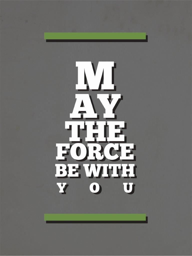 Quadro Decorativo | Arte May the force be with you