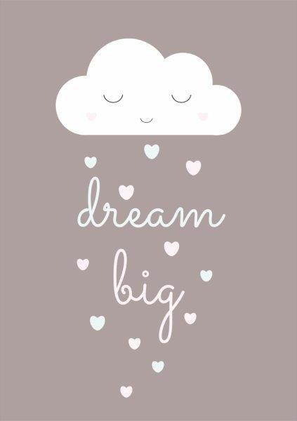 Quadro Decorativo   Arte Nuvem Dream Big