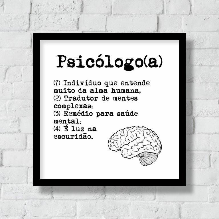 Quadro Decorativo | Arte Profissão Psicólogo (a)