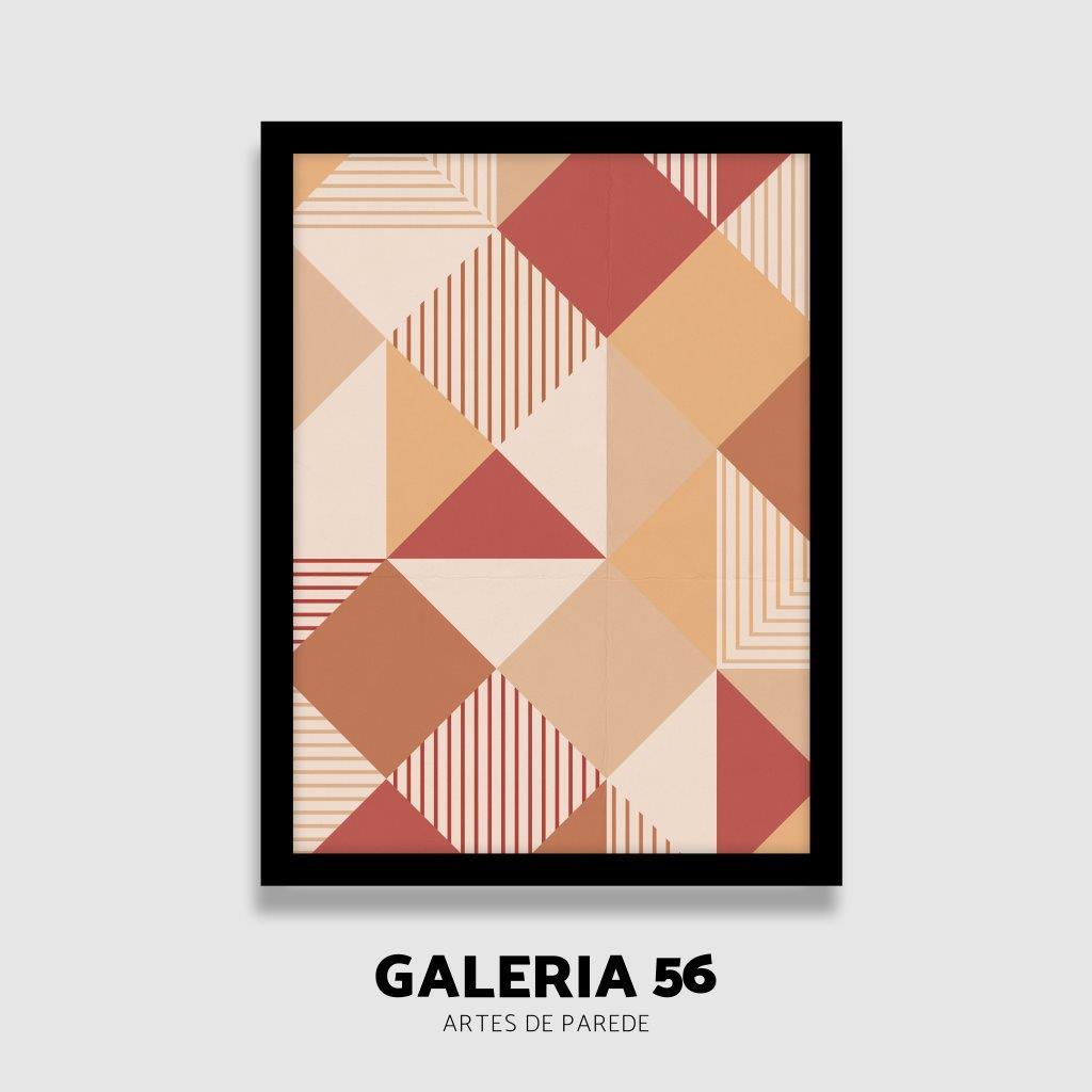 Quadro Decorativo | Arte cores quentes e formas abstratas