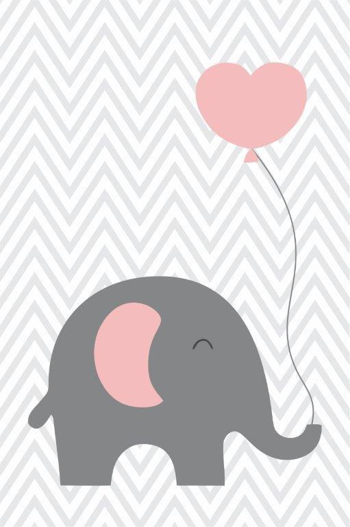 Quadro Decorativo | Arte Elefante com um Coração