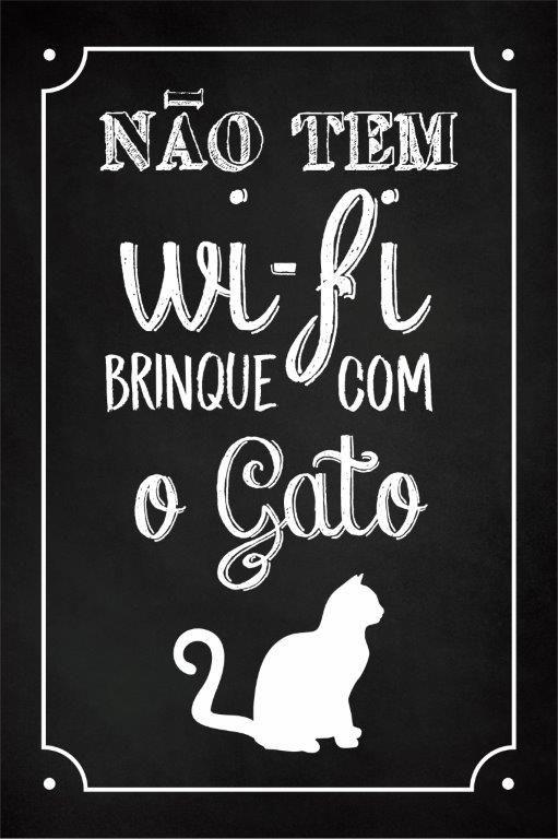 Quadro Decorativo | Arte Gato Wi-Fi