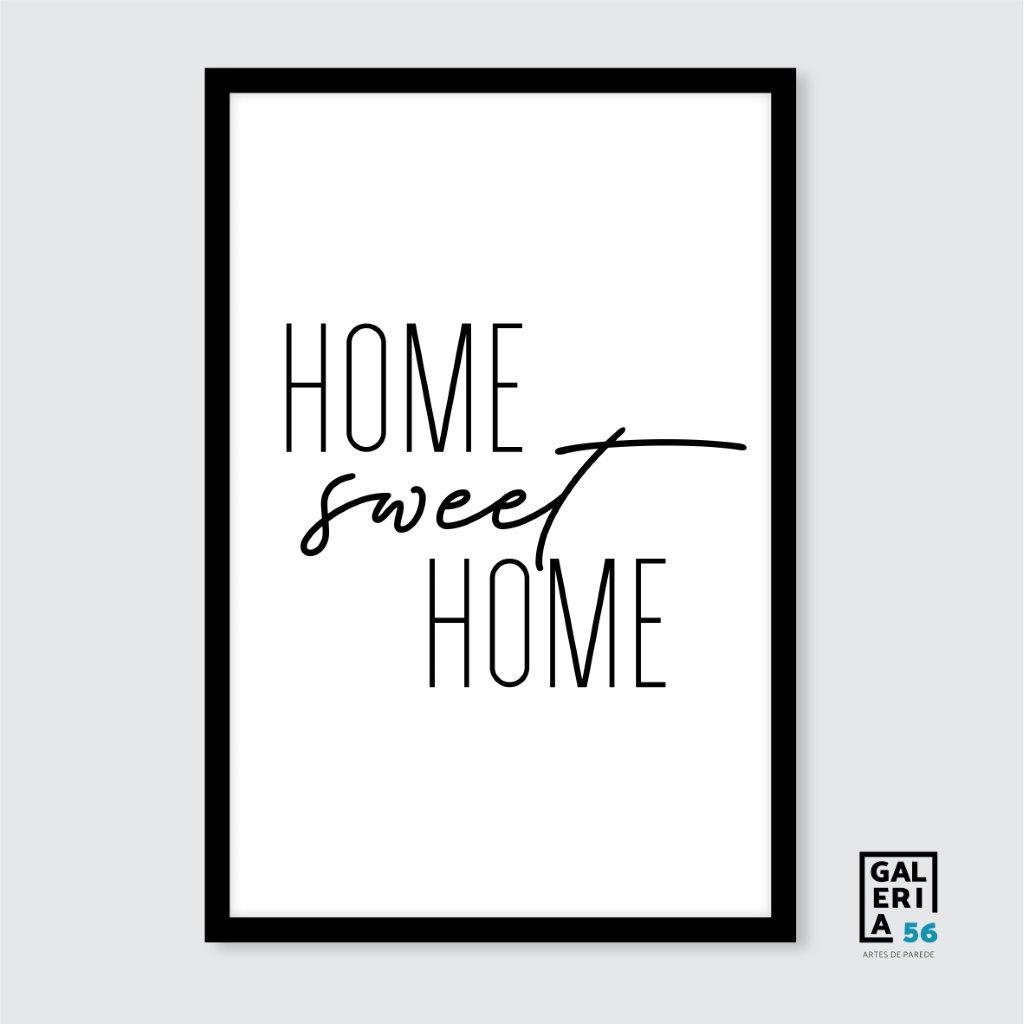 Quadro Decorativo   Arte Home Sweet Home