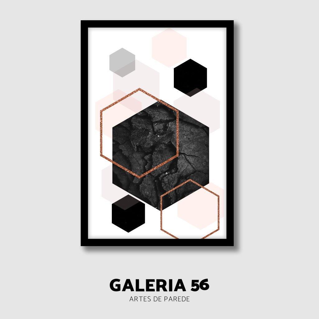 Quadro Decorativo | Arte mármores hexagonais