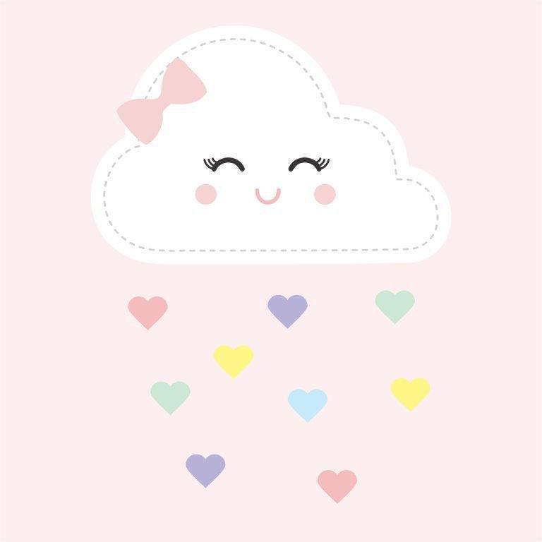 Quadro Decorativo | Arte Nuvem chuva de amor