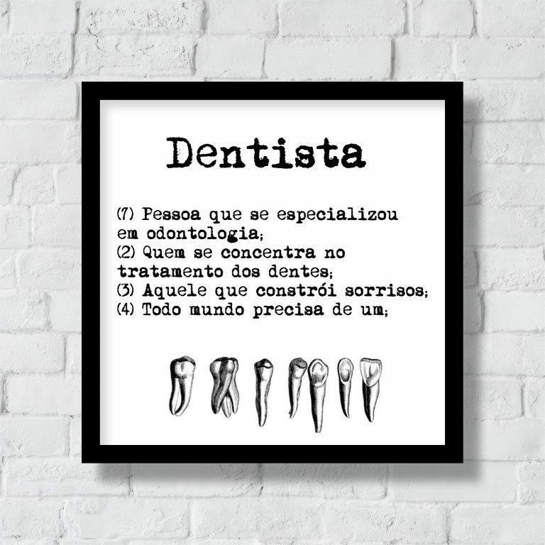 Quadro Decorativo | Arte Profissão Dentista