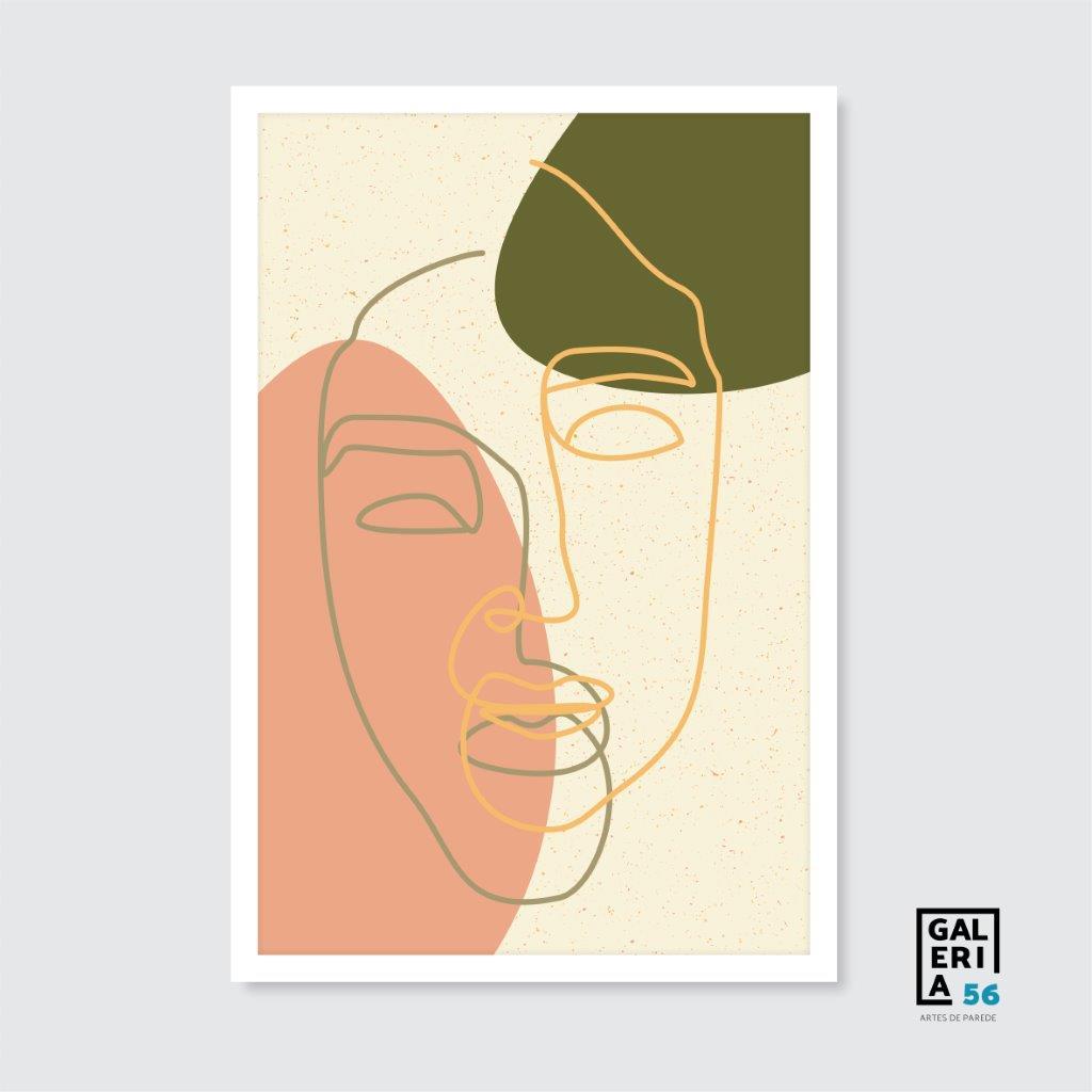 Quadro Decorativo | Arte rosto cores abstrato
