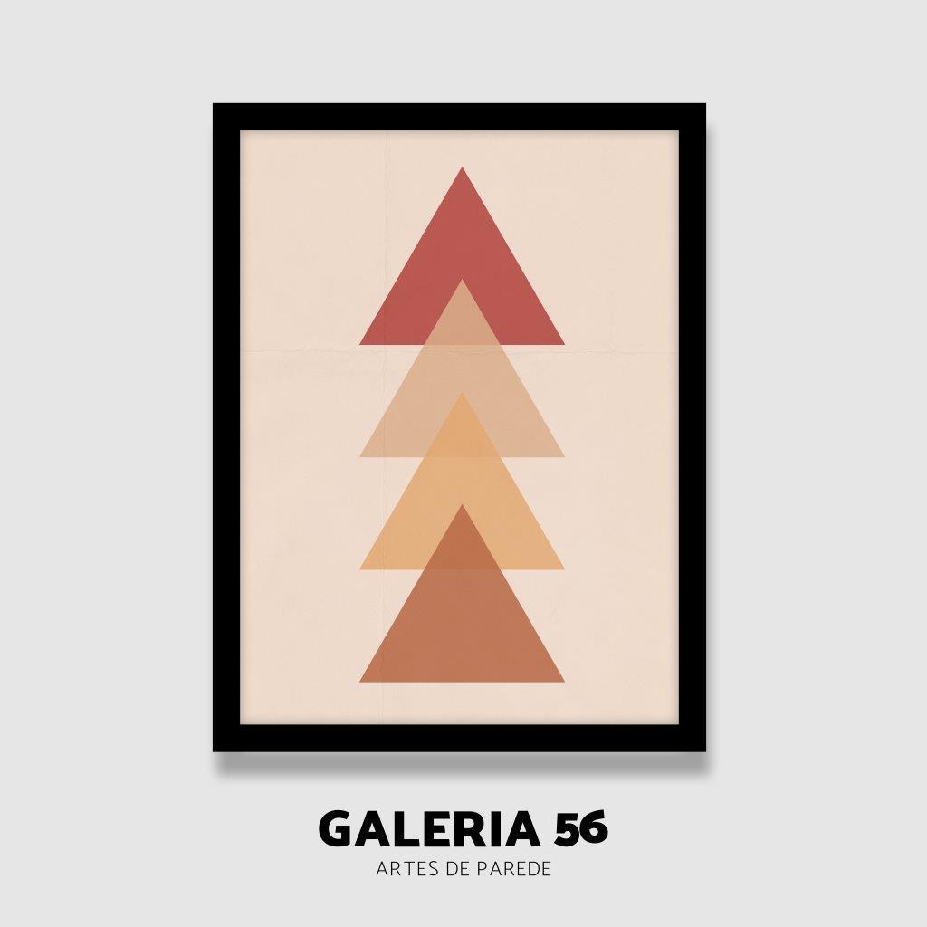 Quadro Decorativo | Arte triangulos em cores quentes
