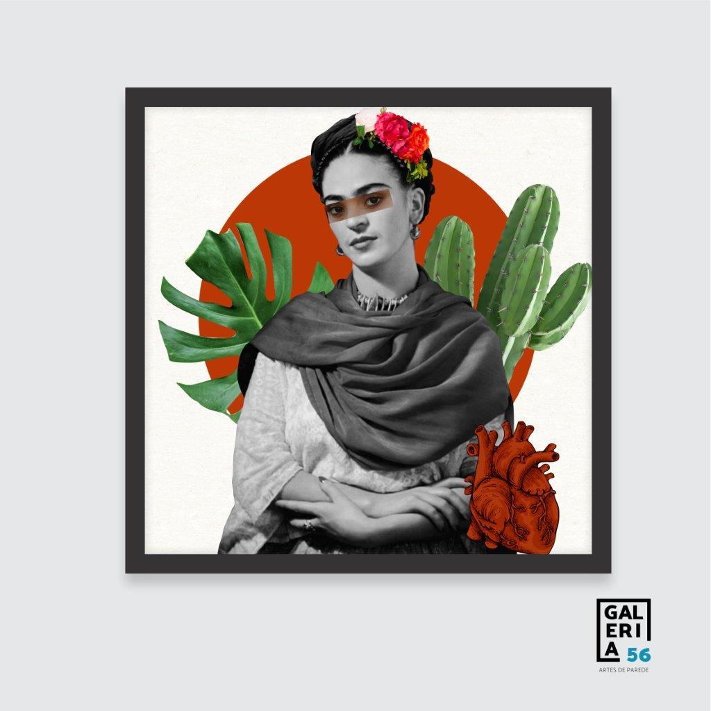Quadro Decorativo   Colagem Frida Kahlo