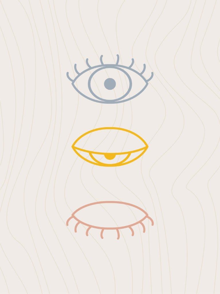 Quadro Decorativo | Arte Olho fechando