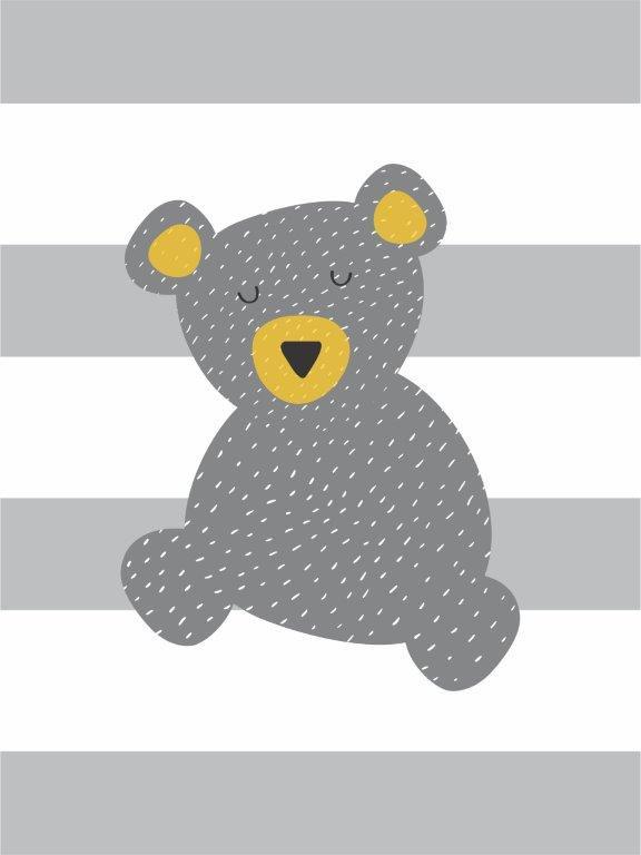Quadro Decorativo | Arte Geométrico Infantil - Urso