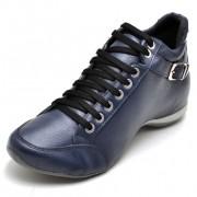 Bota Clube do Sapato de Franca Top Confort 2 Fivela Azul