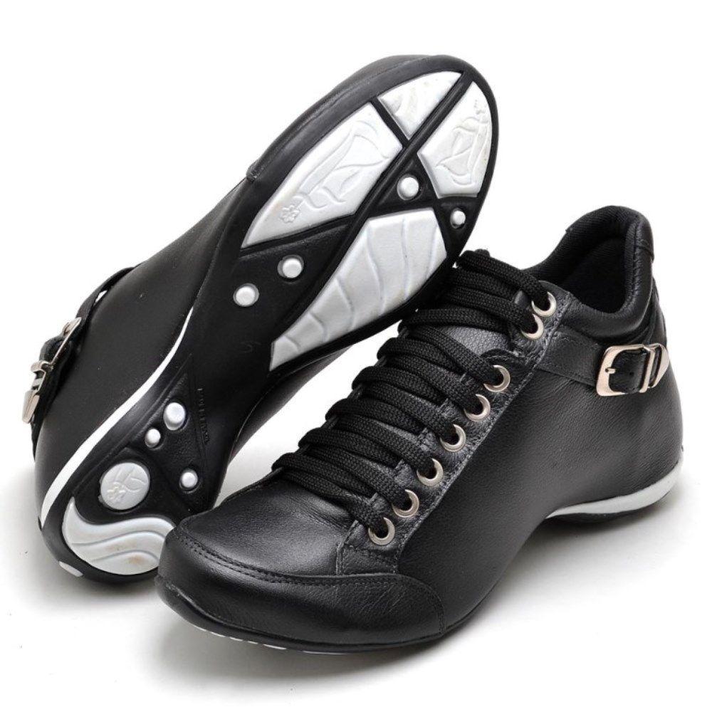 Bota Clube do Sapato de Franca Top Confort 2 Fivela Preta