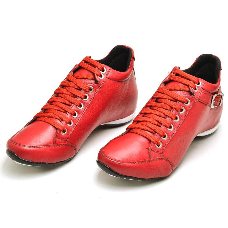 Bota Clube do Sapato de Franca Top Confort 2 Fivela Vermelho