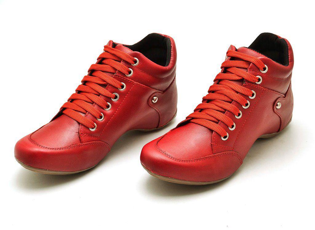 Bota Sport Clube do Sapato de Franca Top Confort Vermelho