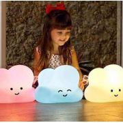 Luminária Abajur Bebê Nuvem Led Fluorescente 100/220 V branca